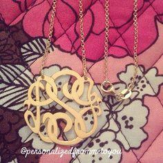 Classic Monogram Necklace