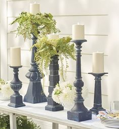 Accent your home with elegant candles and candle holders from Grandin Road. Pair flameless candles with decorative candle holders for the ultimate ambiance. Design Websites, Flameless Candles, Pillar Candles, Decor Crafts, Diy Home Decor, Room Decor, Easy Crafts, Candle Rings, Home Decor Accessories