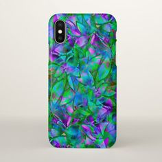#iPhone X Case Floral Abstract Stained Glass - #deco #gifts