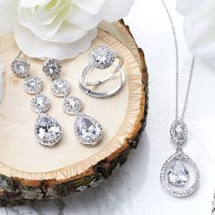 Wedding bells are ringing! Check out Bling Jewelry's gorgeous collection of sterling silver bridal necklaces to add even more glamour to your big day. #bridaljewelry