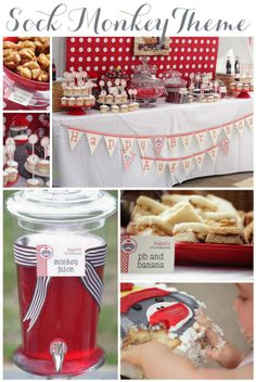diy sock monkey birthday party | we saw this super cute party theme on kara s party ideas and had to ...