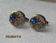 Watch Movement Cufflinks  Steampunk Cufflinks with by Olisava