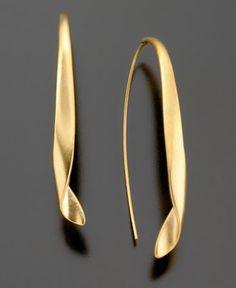 Kenneth Cole New York Earrings, Goldtone Drop - Fashion Earrings - Jewelry & Watches - Macy's
