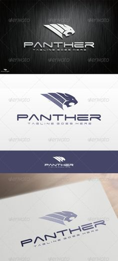 Panther Logo Template by VectorCrow Great panther Logo Template for your company File included : .AI .EPS (Vector Format)