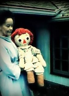"""Annabelle – The Curse Of The Demon Doll                           Lorraine Warren.. holding the """"Real Annabelle""""..   A brave lady.."""