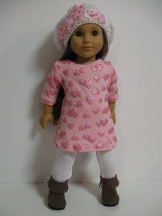 American Girl Doll Clothes Sweet Valentine by 123MULBERRYSTREET
