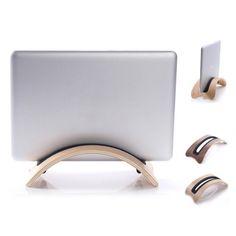 MacBook Pro -Halter-Stand Samdi bogenförmige Holz Laptop Standplatz-Dock-Halter für Apple-Laptop MacBook Pro (Pro white) 20,99 Euro auf Amazon.de