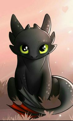 Cute Toothless, Toothless Dragon, Cute Animal Drawings Kawaii, Cute Disney Drawings, Dragon Wallpaper Iphone, Dragon Artwork, Disney Artwork, How To Train Dragon, Cute Dragons