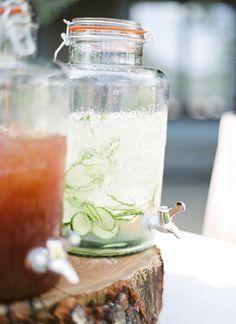 cucumber water | Sweet Tea Photography #wedding