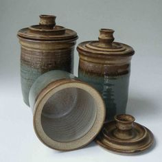 Pottery Canister Set Made To Order Kitchen By Janfairhurstpottery