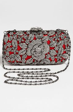 Natasha Couture Crystal Caged Floral Clutch | Nordstrom