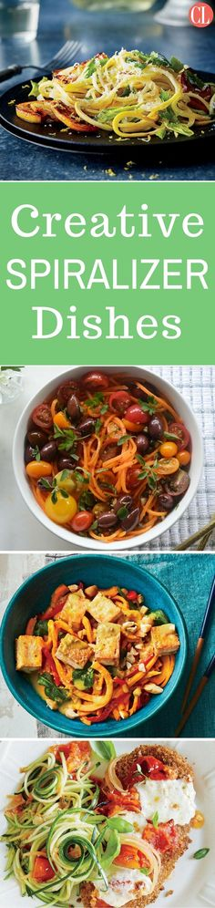 """Spiralizing is an awesome and entertaining way to get fresh fruits and vegetables into your diet without incorporating complicated and calorie-heavy ingredients. Anything that gets you excited about cooking is worth some buzz, and we have some """"in-spiralizing"""" ideas to get you started on this spiral sensation.   Cooking Light"""