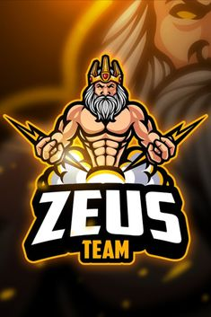 , Zeus - Mascot & Esport Logo- Suitable for your personal or squad logo, All elements on this template are editable with adobe illustrator! Image Trace Illustrator, Adobe Illustrator, Game Logo Design, Logo Design Services, Logos Color, Ps Wallpaper, Logos Ideas, Galaxy Pictures, Esports Logo