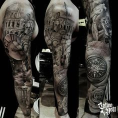 Tattoo You Brasil, considered a reference studio in Latin America, administ . Best Leg Tattoos, Cool Half Sleeve Tattoos, Japanese Sleeve Tattoos, Full Sleeve Tattoos, Tattoo Sleeve Designs, Arm Tattoos For Guys, Tattoo Designs Men, Warrior Tattoo Sleeve, Leg Sleeve Tattoo