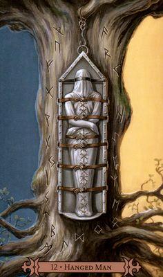 Hanged Man Hanged Man Tarot, The Hanged Man, Divination Cards, Tarot Major Arcana, Dragons, Tarot Card Decks, Magic Art, Oracle Cards, Pretty Art