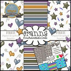 GRANNY ENCHANTED'S BLOG: Free Digital Scrapbook Kit: Family History May 2014 LDS Blogtrain*