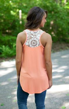 The Pink Lily Boutique - Happy Days Peach Tank, $30.00 (http://thepinklilyboutique.com/happy-days-peach-tank/)