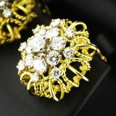 Love these diamond and yellow gold wirework earrings! Cork Ireland, Wire Work, Bespoke, Diamond Earrings, Brooch, Jewels, Jewellery, Yellow, Instagram Posts