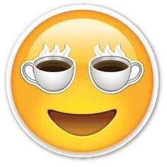 I love coffee emoji Funny Emoji Faces, Emoticon Faces, Funny Emoticons, Smileys, Happy Emoticon, Smiley Faces, Coffee Is Life, I Love Coffee, Coffee Art