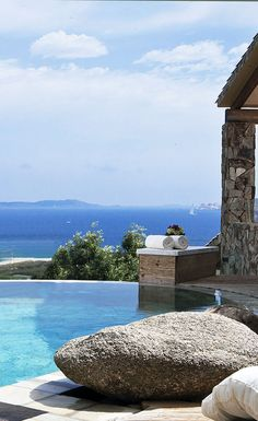 The Imperial #Suite with private #swimmingpool and a stunning #seaview in front of La Maddalena Archipelago. A #luxury #destination in #Sardinia during the #summer