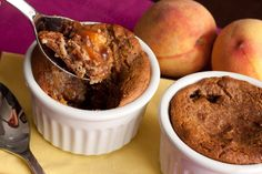 Peach Pancake Cobbler:: 1/2 cup almond flour 1 tbsp ground flax seed 1 ...