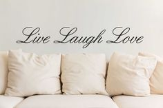 Live Laugh Love wall art sticker quote vinyl wall decor wall decal transfers in Home, Furniture & DIY, Home Decor, Wall Decals & Stickers | eBay