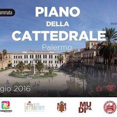 8 maggio 2016: Invasioni digitali nel piano della Cattedrale di Palermo.
