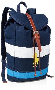Polo Ralph Lauren Men s Striped Canvas Backpack Men - All Accessories -  Macy s 1bc2610dfae
