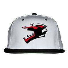 Helmet Embroidered Snapback Hat