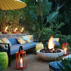 Lighting and a fire pit! - Outdoor Entertaining Tips from Tom Delavan