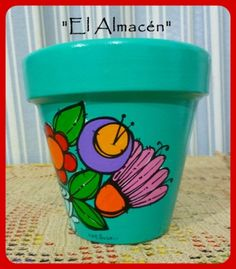 """El arte es, sobre todo, un estado del alma"". Painted Clay Pots, Painted Flower Pots, Decorated Flower Pots, Cement Pots, Flower Doodles, Cactus Y Suculentas, Terracotta Pots, Cute Drawings, Garden Pots"