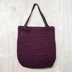 Bolsa/Shopper bolso/el totalizador bolsa/diario Bag Crochet, Chunky Crochet, Shopper Bag, Tote Bag, Tshirt Garn, Fabric Factory, Crochet Shoulder Bags, Recycled T Shirts, Everyday Bag