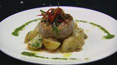 Seared Tuna with Confit Potatoes and Sambal