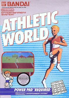 #Athletic World - Label or Box Art #nintendo games #gamer #snes #original #classic #pin #synergeticideas #gameon #play #award