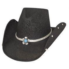 73219e8f600e0 Bullhide Cowboy Hat Western Blossom Toyo Straw Cowboy Hat Silver  Rhinestone