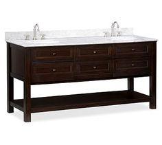 Classic Double Sink Console - Espresso finish #potterybarn