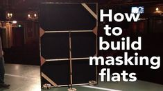How to build Theatre Masking Flats Stage Set Design, Set Design Theatre, Teaching Theatre, Workshop Plans, Stage Props, Paris Party, Construction, T 4, Design Crafts