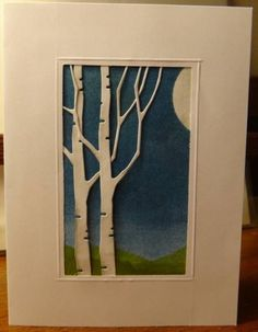 birch tree craft die - Google Search