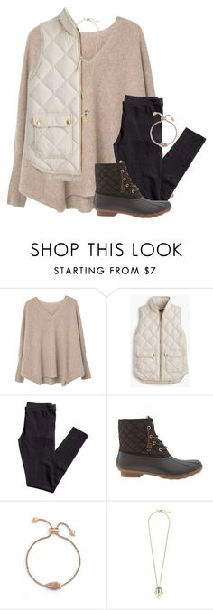 """""""This is how we do."""" by amberfmillard-1 ❤ liked on Polyvore featuring MANGO, J.Crew, H&M, Sperry and Kendra Scott"""
