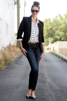 That polka dot shirt though. I want it! What I Wore: All Business