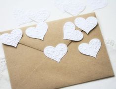 Items similar to Wedding Stickers Seals Hearts – 25 Embossed White French Lace Elegant Seals For Envelopes Gift Wrap Favor Bags on Etsy – wine Love Scrapbook, Wedding Scrapbook, Scrapbook Supplies, Wedding Paper, Wedding Cards, Wedding Gifts, Wedding Ideas, Wedding Inspiration, Invitation Envelopes