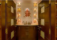 Image result for pooja room glass door designs images