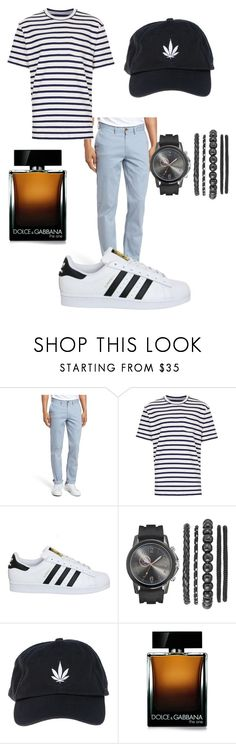 """""""Streetsmart Man"""" by ssakshis on Polyvore featuring Ben Sherman, Topman, adidas, Palm Angels, Dolce&Gabbana, men's fashion and menswear"""