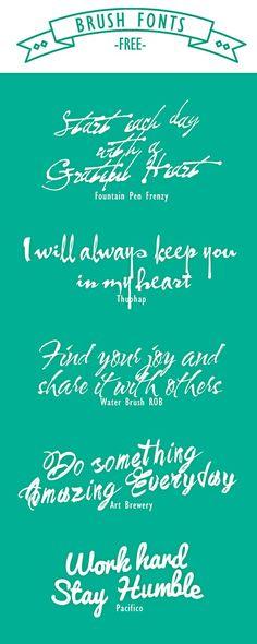 free brush fonts_happy_box.me