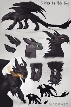 Scarface the Night Fury by Madpattii on DeviantArtYou can find Night fury and more on our website.Scarface the Night Fury by Madpattii on DeviantArt Creature Drawings, Animal Drawings, Cute Drawings, Fantasy Dragon, Fantasy Art, Httyd Dragons, Dragon Sketch, Mythical Creatures Art, Dragon Artwork