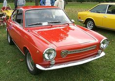 Fiat Abarth 1000 Coupé - Fiat 850 - Wikipedia Fiat 850, Fiat Abarth, Sports Car Racing, Race Cars, New Fiat, Fiat Cars, Steyr, Cool Cars, Classic Cars