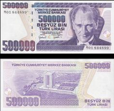 Turkey Half Million Lira, 1998 Bank Account Balance, Turkish Lira, Money Worksheets, Background Information, Educational Websites, Elder Scrolls, Nostalgia, World, Istanbul
