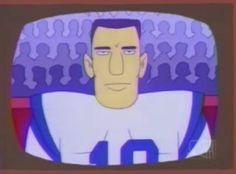 Now, Johnny Unitas - there's a haircut you could set your watch to.
