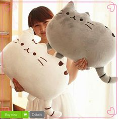 Novelty item soft plush stuffed animal doll,talking anime toy pusheen cat for girl kid;kawaii,cute cushion brinquedos, birthday US (Somebody made Pusheen) ; Kawaii Pusheen, Gato Pusheen, Pusheen Cat Plush, Chat Kawaii, Kawaii Cat, Kawaii Shop, Pet Toys, Doll Toys, Kids Toys