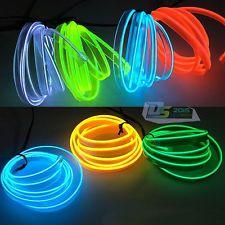 2M/5M LED Flash Flexible Neon Light Sewable EL Tube Wire Rope Car Party Decor